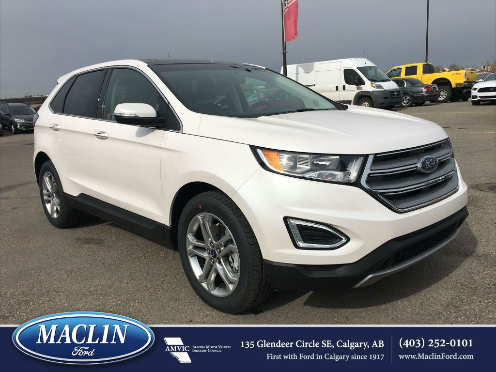new 2017 ford edge titanium in calgary 17ed5616 maclin ford. Black Bedroom Furniture Sets. Home Design Ideas