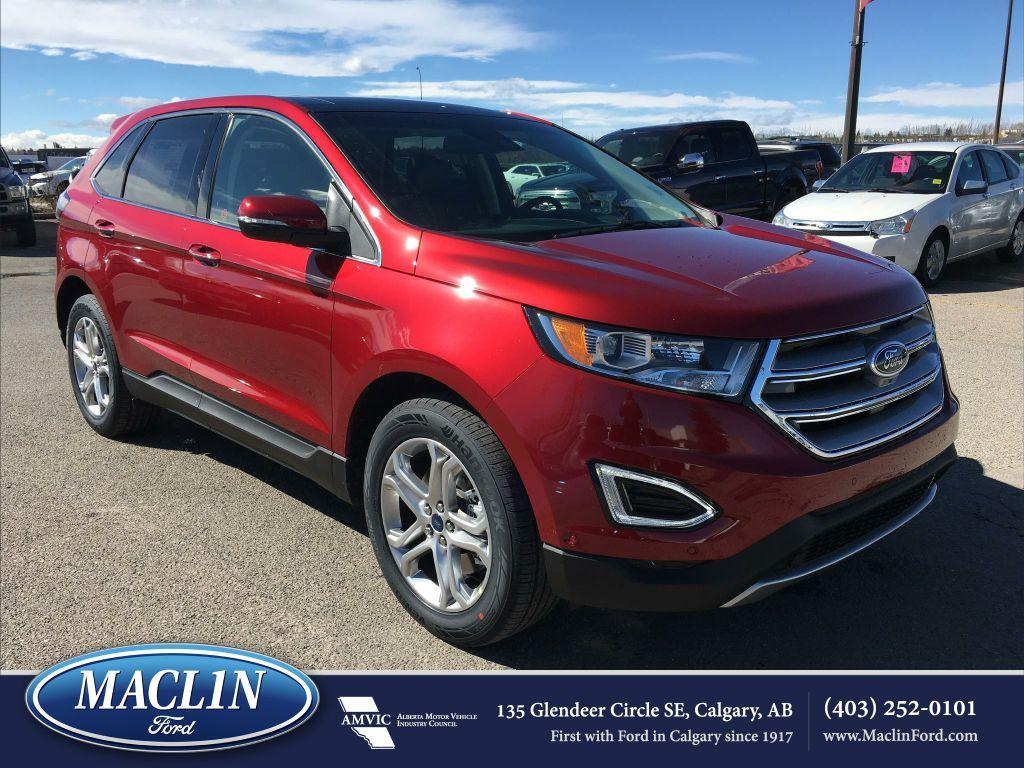 new 2017 ford edge titanium in calgary 17ed8966 maclin ford. Black Bedroom Furniture Sets. Home Design Ideas